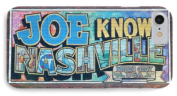 Joe Knows Nashville IPhone Case by Frozen in Time Fine Art Photography