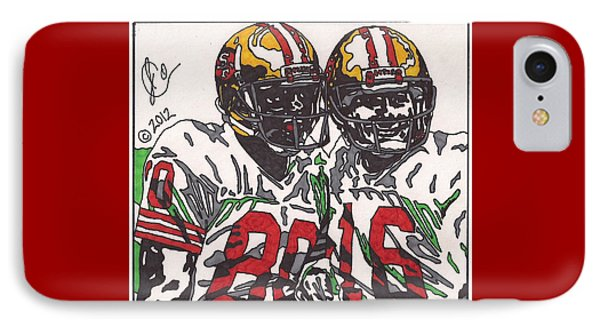 Joe Montana And Jerry Rice Phone Case by Jeremiah Colley
