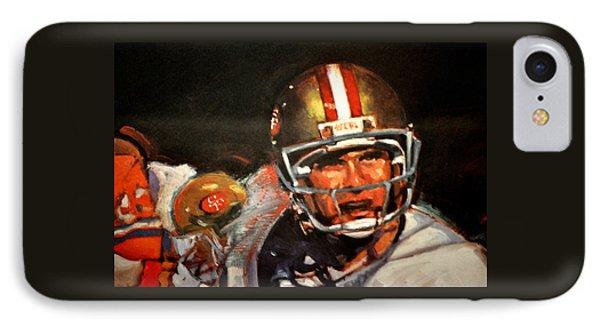Joe Montana IPhone Case by Jay Milo