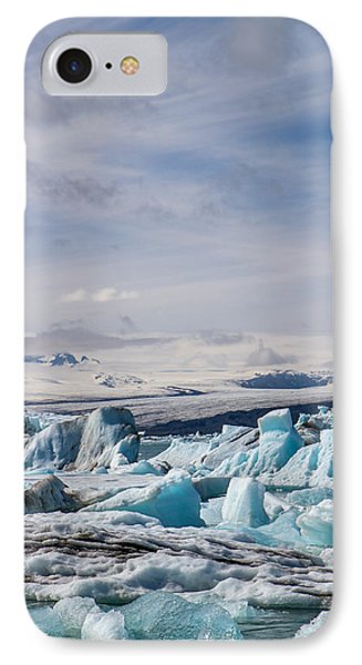 Joekulsarlon Glacial Lagoon IPhone Case by For Ninety One Days