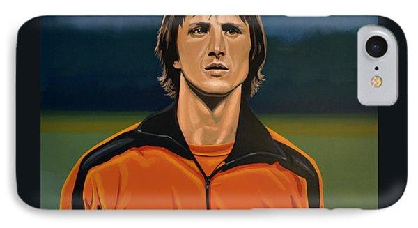 Johan Cruyff Oranje IPhone Case by Paul Meijering