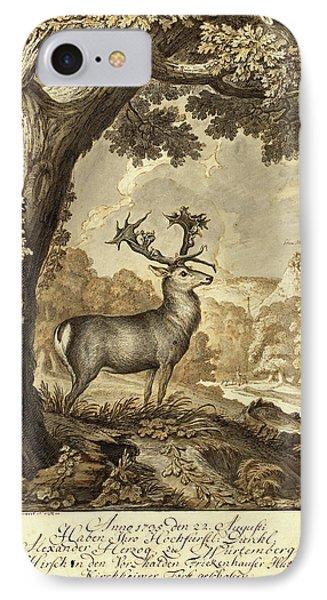 Johann Elias Ridinger, German 1698-1767 IPhone Case by Litz Collection
