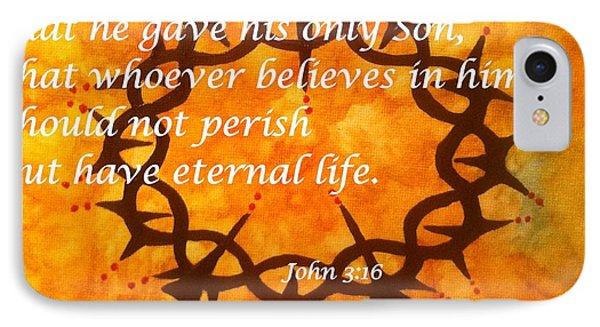 John 3 16 Religious Abstract Art By Saribelle Rodriguez IPhone Case by Saribelle Rodriguez