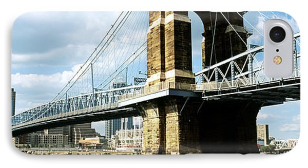 John A. Roebling Suspension Bridge IPhone Case by Panoramic Images