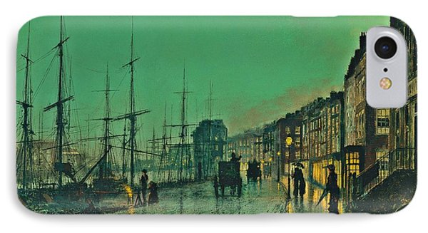 John Atkinson Grimshaw Shipping On The Clyde 1881 IPhone Case by Movie Poster Prints