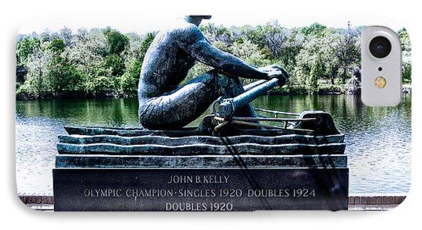 John B Kelly Statue Philadelphia Phone Case by Bill Cannon