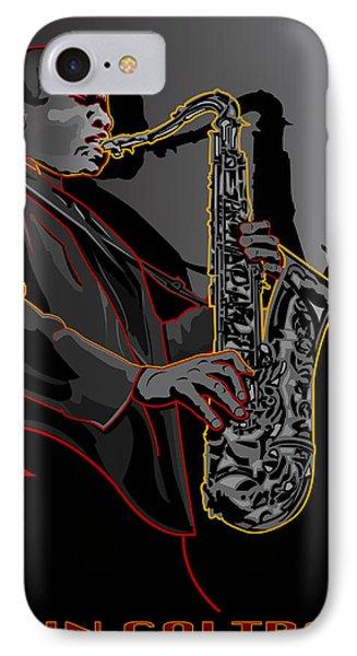 John Coltrane Jazz Saxophone Legend Phone Case by Larry Butterworth