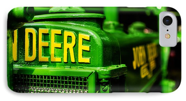 John Deere 1935 General Purpose Tractor Grill Detail IPhone Case by Jon Woodhams