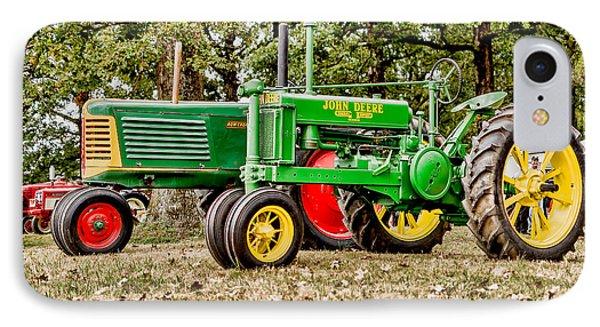 John Deere 1935 General Purpose Tractor With Oliver Row Crop 77 IPhone Case by Jon Woodhams
