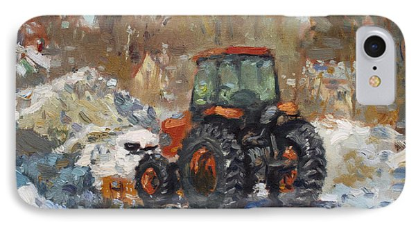 John Deere Taking A Brake IPhone Case by Ylli Haruni