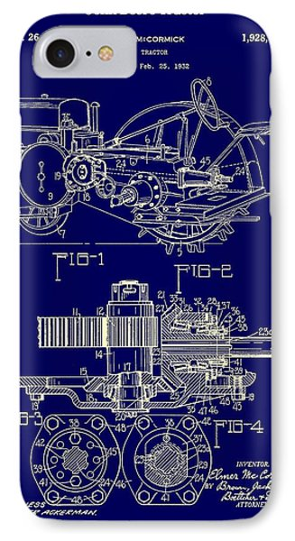 John Deere Tractor Patent 1933 IPhone Case by Mountain Dreams