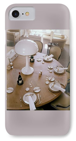 John Dickinson's Dining Table IPhone Case by Fred Lyon