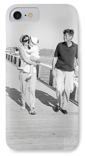 John F. Kennedy And Jacqueline Kennedy At Hyannis Port Marina IPhone Case by The Harrington Collection