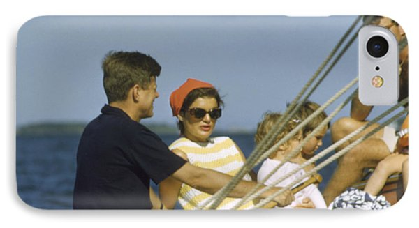 John F. Kennedy Boating IPhone Case by The Harrington Collection