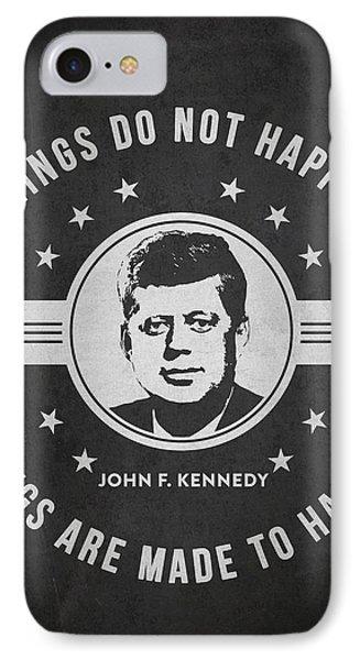 John F Kennedy - Dark IPhone Case