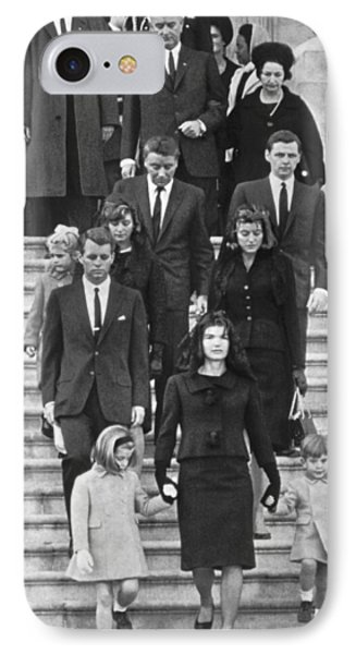 John F. Kennedy Funeral IPhone Case by Underwood Archives