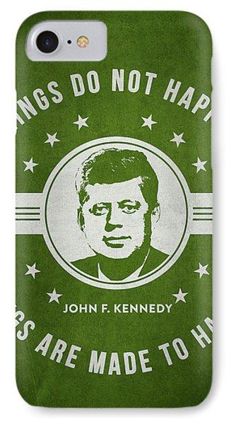 John F Kennedy - Green IPhone Case