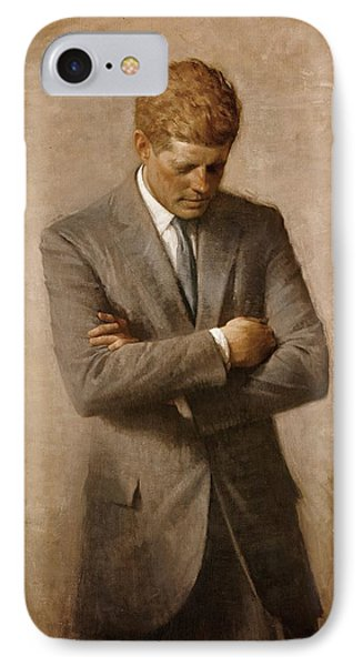 John F Kennedy Official Portrait IPhone Case by Celestial Images