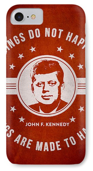 John F Kennedy - Red IPhone Case