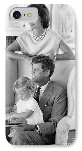 John F. Kennedy With Jacqueline And Caroline 1959 IPhone Case by The Harrington Collection
