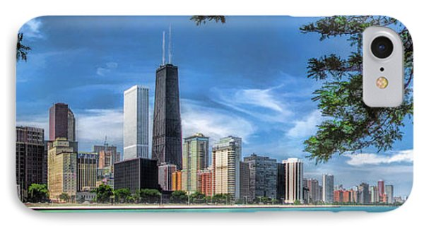 John Hancock Chicago Skyline Panorama IPhone Case by Christopher Arndt