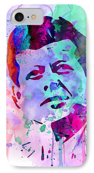 John Kennedy Watercolor IPhone Case by Naxart Studio