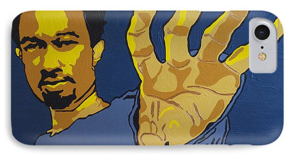 IPhone Case featuring the painting John Legend by Rachel Natalie Rawlins