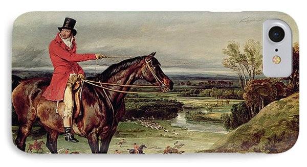 John Levett Hunting In The Park At Wychnor Phone Case by James Ward