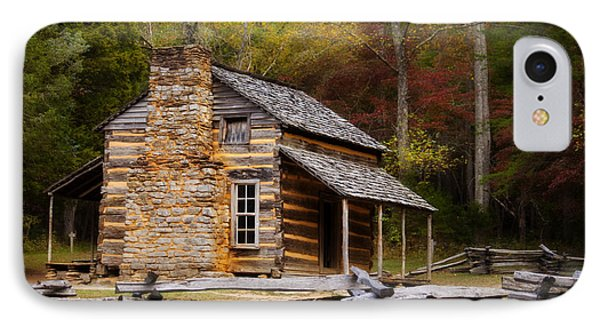 John Oliver Cabin Cades Cove IPhone Case by Lena Auxier