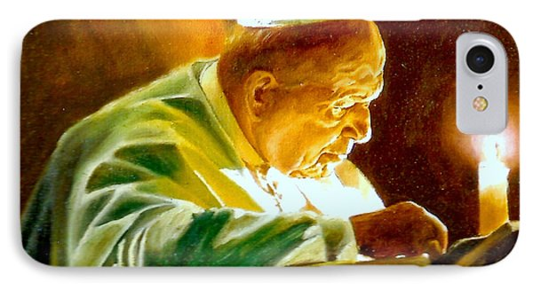 IPhone Case featuring the painting John Paul II by Henryk Gorecki