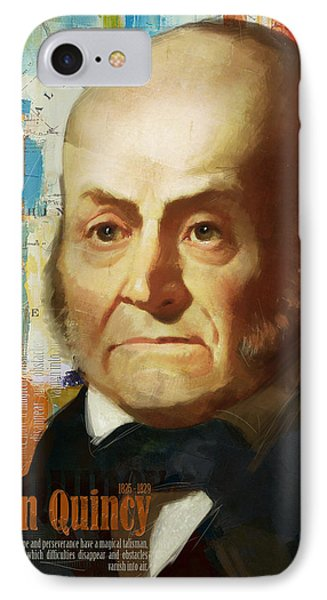 John Quincy Adams IPhone Case by Corporate Art Task Force