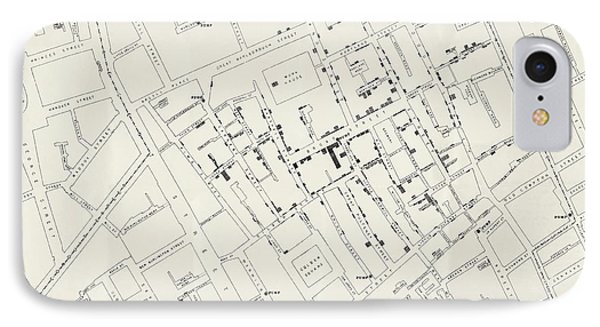 John Snow's Cholera Map IPhone Case by British Library