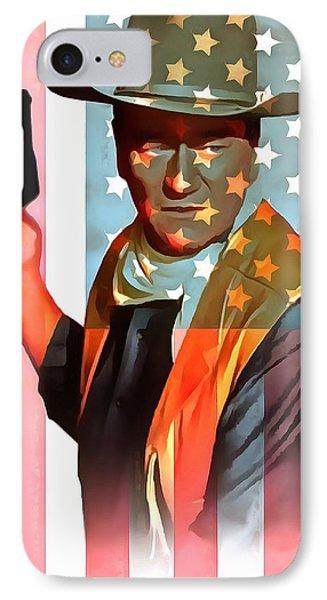 John Wayne American Icon IPhone Case by Dan Sproul