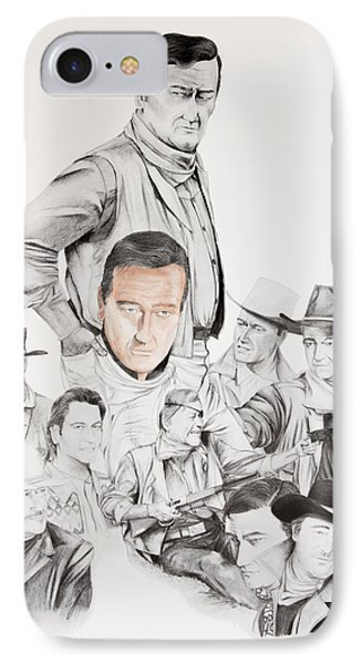 John Wayne Commemoration 1930 To 1976 Phone Case by Joe Lisowski