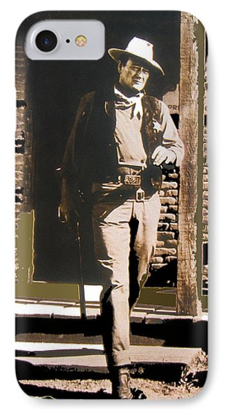 John Wayne Exciting The Sheriff's Office Rio Bravo Set Old Tucson Arizona 1959-2013 IPhone Case by David Lee Guss