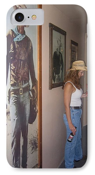 John Wayne Gallery Hondo 1953 Crystal Palace Saloon Helldorado Days Tombstone Arizona 2004 Phone Case by David Lee Guss
