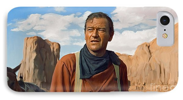 John Wayne IPhone Case by Paul Tagliamonte