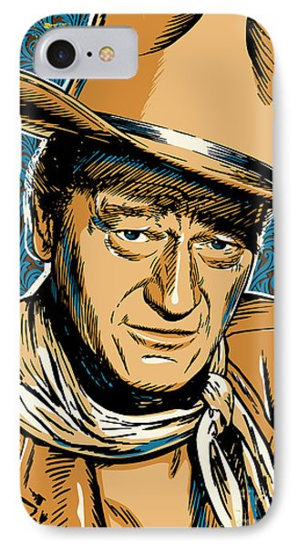 John Wayne Pop Art IPhone Case by Jim Zahniser
