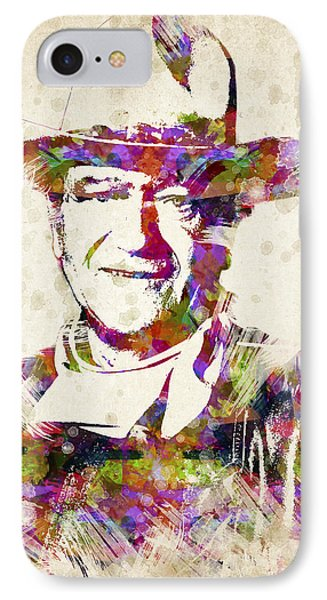 John Wayne Portrait IPhone Case by Aged Pixel