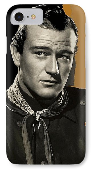 John Wayne  Publicity Photo In Costume Stagecoach 1939-2009 IPhone Case by David Lee Guss