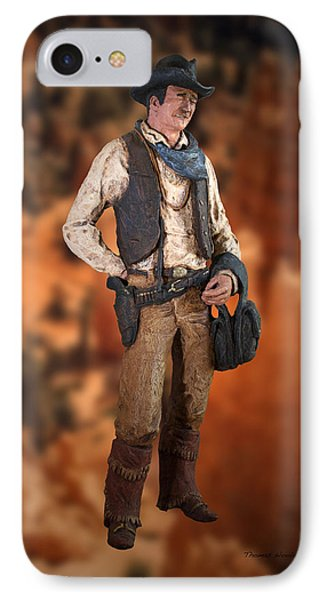 John Wayne The Cowboy Phone Case by Thomas Woolworth