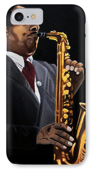 Johnny And The Sax IPhone Case by Barbara McMahon