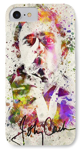 Johnny Cash  IPhone Case by Aged Pixel