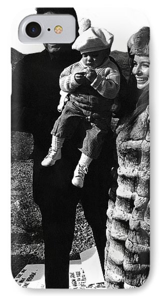 IPhone Case featuring the photograph Johnny Cash And Family Old Tucson Arizona 1971 by David Lee Guss