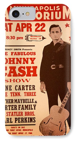 Johnny Cash IPhone Case by Bob Hislop