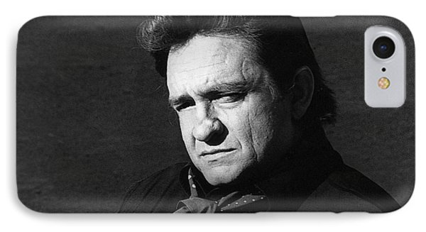 IPhone Case featuring the photograph Johnny Cash Close-up The Man Comes Around Music Homage Old Tucson Az  by David Lee Guss