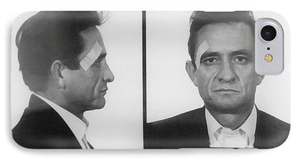 Johnny Cash Folsom Prison IPhone 7 Case by David Millenheft
