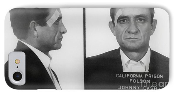 Johnny Cash Folsom Prison Large Canvas Art, Canvas Print, Large Art, Large Wall Decor, Home Decor IPhone 7 Case by David Millenheft