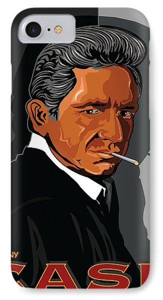Johnny Cash Phone Case by Larry Butterworth