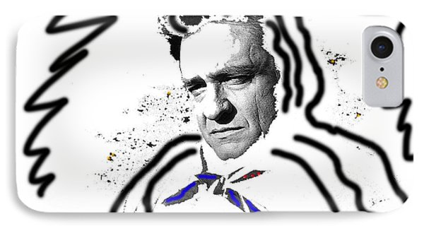 IPhone Case featuring the photograph Johnny Cash Man In White Literary Homage Old Tucson Arizona 1971-2008 by David Lee Guss